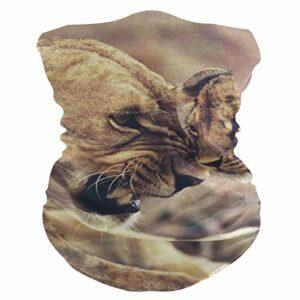 N / A Lion Echarpe Tête Pirate Elastique Décoration Faciale Unique Bandeaux Séchage Rapide Écharpe pour Course À Pied Yoga Escalade