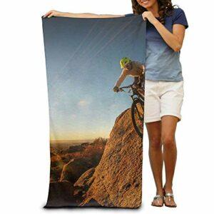 N A Serviette de plage super absorbante en polyester pour vélo d'escalade 80 x 130 cm