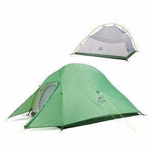 Naturehike Cloud-up 2 Tente de Camping Ultra-légère pour 2 Personnes – Tente de Randonnée Double Couche Imperméable 4 Saisons(Vert)