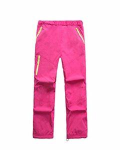 Pantalons Enfants Pantalons De Ski Pantalons De Snowboard Unisex Pantalons Fonctionnels Pantalons Thermo Outdoor Camping Trekking Rose 3XL