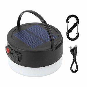 Pasamer LED Lanterne de Camping en Plein Air, Lumière Solaire Portable de Banque d'alimentation de Secours avec Crochet pour la Randonnée en Montagne, la Pêche et Le Camping, etc.