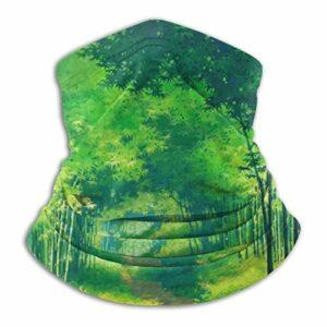 pengyong Tour de cou avec motif forêt de bambou et peinture à l'aquarelle, passe-montagne, bandana coupe-vent, écharpe pour ski, moto