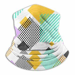 pengyong Tour de cou coloré sans coutures avec motif triangle, passe-montagne, bandana, coupe-vent, écharpe pour le ski, la moto