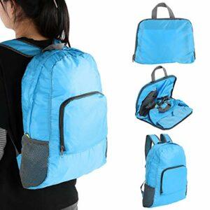 Petit sac à dos de voyage de haute qualité sac banane sac à dos léger pliable sac de camping pliable en plein air pour la remise en forme course à pied randonnée(blue)