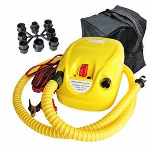 Pompe à air électrique, pompe électrique multifonction de pompe électrique pour matelas pneumatiques, bateaux pneumatiques, lits d'invités, animaux de natation gonflables ou camping automatique
