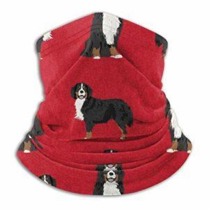 Qefgjbw Couverture de visage sans couture Bandanas cache-cou écharpe guêtre coupe-vent hommes et femmes, chien de montagne bernois