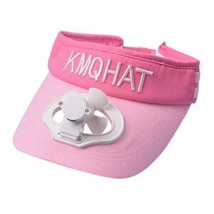 Qiamay Casquette de baseball avec ventilateur USB Charge, ventilateur, unisexe, casquette de camping Golf (rose, noir, blanc, bleu clair, taille unique) – Rose – Taille Unique