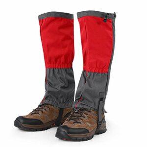 Rehomy Trail Guêtres de jambe imperméables d'extérieur pour chaussures de neige pour la randonnée, la marche, la chasse, l'escalade et la raquette
