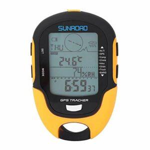 Riiai Altimètre numérique, récepteur de navigation GPS, portable USB, baromètre numérique rechargeable avec écran LCD pour le camping, la randonnée, l'escalade, les sports de plein air