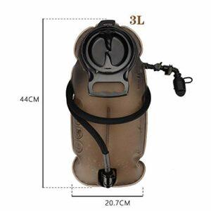 Sac à dos d'hydratation avec poche à eau, 2L, 2.5L,3L TPU Sacoche à vélo Réservoir vessie d'eau pour cyclisme, randonnée, , Escalade Sacs de Course, Sport de Plein Air Sac d'Hydratation ,3L+Backpack