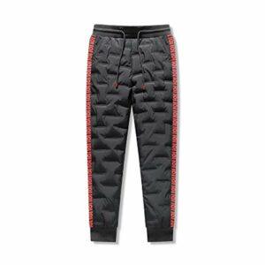 SADWF Hommes Femmes en Plein Air Pantalon en Duvet d'oie Randonnée Hivernale Résistant a l'eau Pantalon Chaud Escalade Camping Coupe-Vent Imperméable a La Neige Casual Pantalon