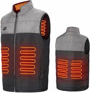 SAFT Gilet chauffant pour homme et femme – Avec 3 positions de température – Pour la chasse, la moto, le camping