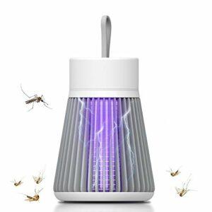 SBL Global Lampe anti-insectes UV avec batterie rechargeable USB de 1200 mAh et crochet rétractable, lampe de camping, anti-moustiques, piège à insectes et anti-moustiques