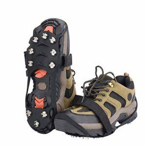 SCDXJ Crampons Alpinisme Glace 10 Dents Unisexe Multifonction Acier Chaussurespour Trekking Marche Ou Activités sur Terrain Neigeux