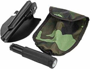 Shovel Pelles à Neige Pelle Pliante Portable Pelle Pliante Mini-Militaire de Survie Spade d'urgence Truelle for Camping en Plein air Tooldiscount Dropship LQHZWYC (Color : Black)