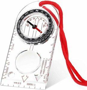 SLL 2 pièces Compas en Plein air, Compass Carte, Compas de randonnée, Dispositifs de Navigation extérieurs, Compass de Suivi. Extérieur