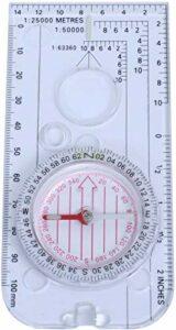 SLL Compass Carte Mills – Mesurer Mills Navigation Compass, degrés, Lentille Lens, Randonnée Essentielle pour Le Camping, Trekking Extérieur