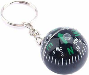 SLL Porte-clés de Boules de Boule sphérique de 30mm pour la Survie de la randonnée en Camping en Plein air Extérieur