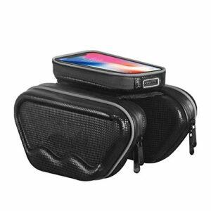 Sport Equipment Sac Noir 5L-BIKE, poche avant avec écran tactile, Porte-monnaie étanche, for tous les vélos et montagne et les téléphones mobiles sous 6.0 pouces pour ( Color : Black , Size : 5L )