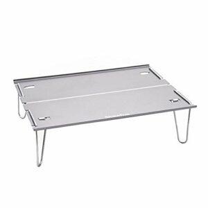 Table portable ultra légère en aluminium pliable pour la randonnée, le camping, le plein air – Mini table pour le trekking en plein air