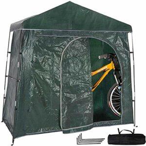 Tente de vélo de montagne polyvalente extérieure, hangar de stockage de vélo de camping étanche et résistant aux UV,hangar de stockage de vélo polyvalent pour 2 ou 3 vélos de route de montagne et moto