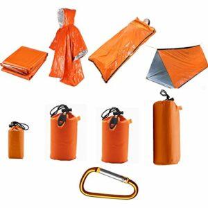 Tente d'urgence avec couverture d'urgence et sac de couchage d'urgence, tente d'urgence 2 personnes pour la randonnée, la préparation du tremblement de terre, équipement de camping excédentaire