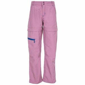 Trespass – Pantalon de randonnée Convertible Defender – Unisexe (7-8 Ans) (Mauve)