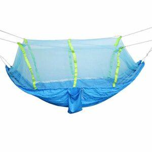 Tubayia Hamac respirant avec moustiquaire pour le camping, la randonnée, le trekking (bleu et bleu ciel)