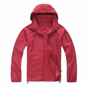 Vêtement de protection solaire imperméable pour homme pour sports de plein air randonnée et alpinisme – Rouge – XXXXL