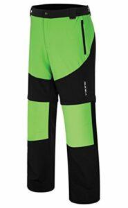 VIKING Pantalon Fonctionnel pour Homme – Jambes De Pantalon Amovibles – pour Le Trekking, l'escalade – Respirant – Colorado Man, Noir/Vert, M
