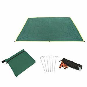 Warooma Hamac imperméable léger 1,5 x 2,2 m pour Camping, randonnée, Pique-Nique 1.5mx2.2m Vert