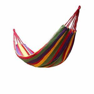 XGTsg La Toile De Parachute Hamac Outdoor Seul Camping Hamac Portable Indéchirables Double Hamac Loisirs Swing,Couleur Irisée,190Cm 80 *