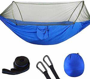 XIUYU Camping Tente, 2 Personne Camping hamac avec moustiquaire, Swing Pop-Up Portable Sleeping Hamac Lit Tente for extérieur, randonnée pédestre, randonnée, Voyages, 290 * 140CM