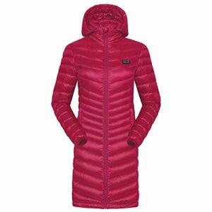 XUYONGZ Veste Chauffant Femmes, 3 Niveaux De RéGlage De La TempéRature, Gilet Chauffé pour Activités de Plein Air Chasse Randonnée en Ski Pêche Camping Lavable/Red/XL