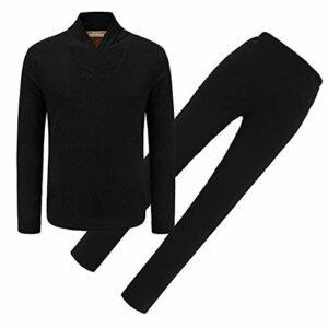 YFJBDKS Vêtements de Chauffage Electrique, USB Chauffage sous-vêtements Hiver Thermique Chaud Vêtements pour Randonnée en Plein Air Ski Pêche,Blackmen,L