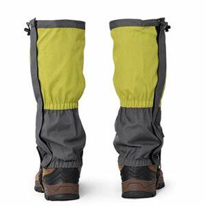 Yudanny 1 paire de guêtres imperméables pour sports de plein air, escalade, randonnée, leggings, couvre-chaussures, vert