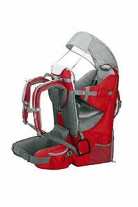 ZStyle Porte-bébé de randonnée, ergonomique et rembourré, protection solaire, ceinture, sac à dos porte-bébé pour montagne et ville rouge