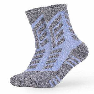 2 Paires Femme Chaussettes Multi-Performance Wicking Anti-Ampoules pour Les Sports de Plein air randonnée Trekking Camping Backpacking Running Fitness (Bleu, M:35-38)