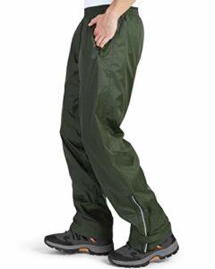33,000ft Pantalon de pluie imperméable pour homme – Pantalon de pluie léger et coupe-vent – Pour la randonnée, le camping, le golf L beige