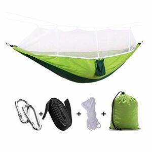 Activités et animations Siège de balançoire Hamac de camping de voyage en nylon de parachute portable, hamac de camping avec moustiquaire, chaise oscillante pour intérieur, extérieur, randonnée pédest