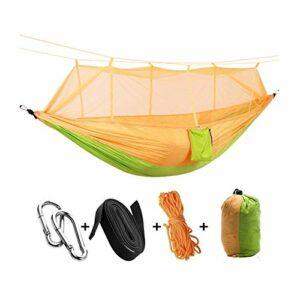 Activités et animations Siège de balançoire Portable Pliable Double Camping Hammock Mosquito Net Tree Terre Tente Swing Lit de voyage, Tente de balançoire idéale pour Camping, Sac à dos, Kayak & Voyag