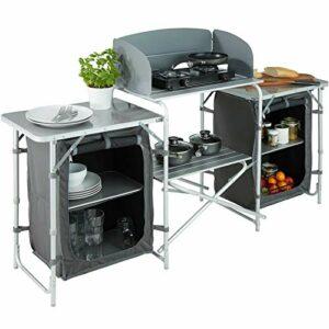 ADHW Cuisine De Camping Aluminium Armoire Mobilier Tente Placard D'extérieur Pliable