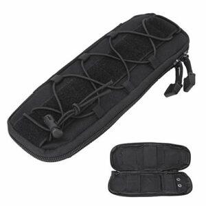 Alomejor Couteau Roll Bag Portable Knife Bag Case Storage Tote with Shoulder Strap Black Green for Outdoor Camping(Noir)
