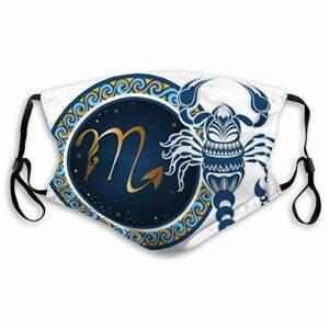 AQacum Protège-visage en coton réutilisable pour le cyclisme, le camping, les voyages, les signes du zodiaque, le scorpion, le signe du zodiaque, le cercle, taille unique