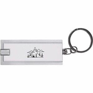 Azeeda 'Paysage de Montagne Tipi' Porte-clés Torche LED / Lampe de Poche (KT00013348)