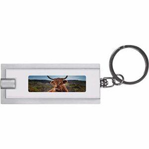 Azeeda 'Vache Montagnes' Porte-clés Torche LED / Lampe de Poche (KT00001933)