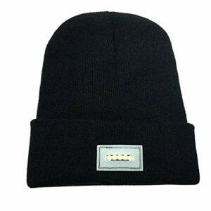 BESPORTBLE LED Beanie Hat 5Leds Headlamp Cap Unisex Warm Winter Tricoté Chapeau pour La Randonnée Vélo Camping Auto Réparation Marche à La Chasse de Nuit