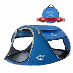 Cfbcc Extérieur 3-4 Personnes Tente Vitesse Automatique Tente Ouverte Tente Camping Plage, Convient, Pique-Nique, Escalade, pêche, Aventure, Coupe-Vent, 240 * 180 * 100cm (Color : 1)