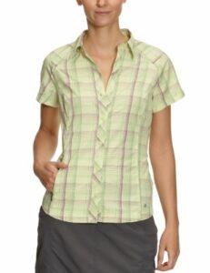 Columbia Hit the Trail Short Sleeve Shirt Chemise manches courtes randonnée femme Coolant M