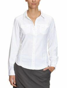Columbia Psych to Hike L/S Shirt Chemise manches longues randonnée femme Blanc XL